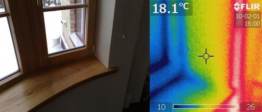 Medinio lango termovizinis patikrinimas